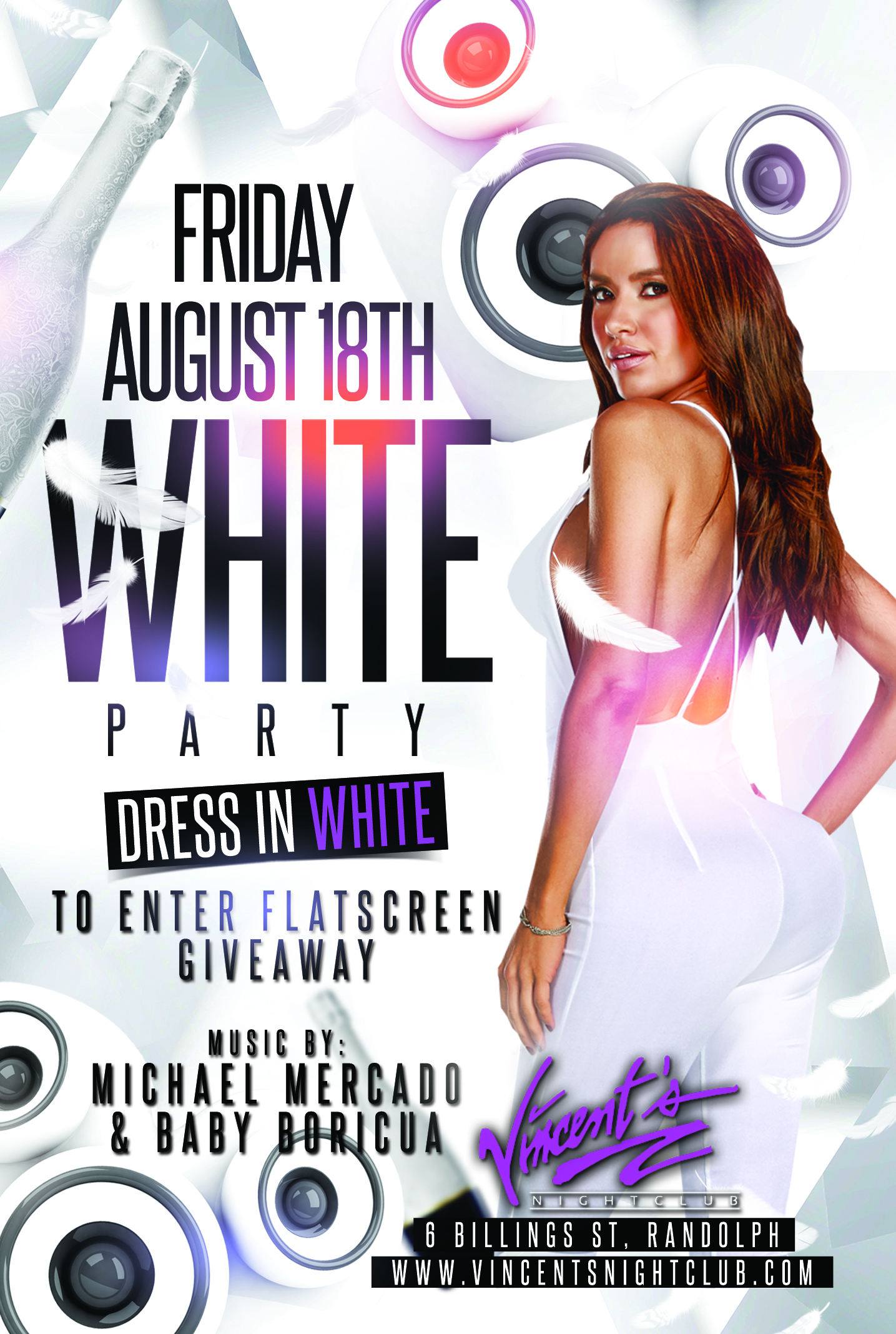 VINCENTS FRIDAY White Party copy